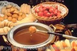 Como preparar fondue de Dulce de Leche
