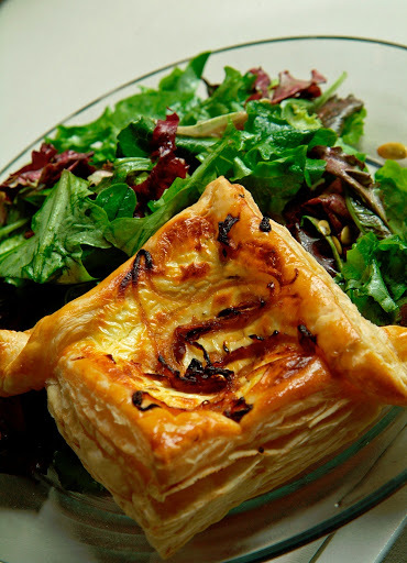 Onion Tart is easy, elegant, impressive, and delicious