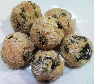 Dieta - Bolinho de mandioquinha, brócolis e aveia (vegano)
