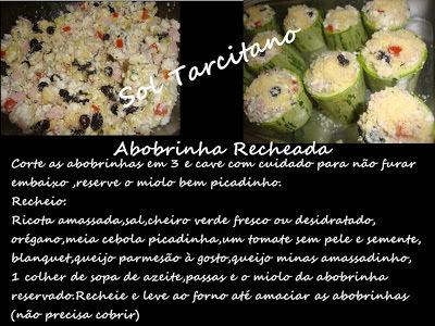 Abobrinha Recheada