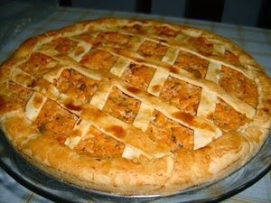 de torta salgada de frango com catupiry de massa podre