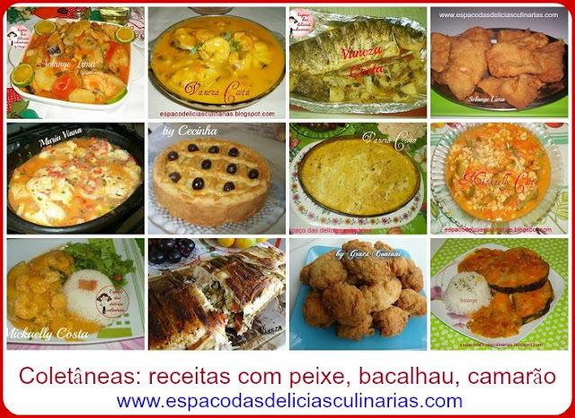 Coletâneas: receitas de peixes, bacalhau, camarão
