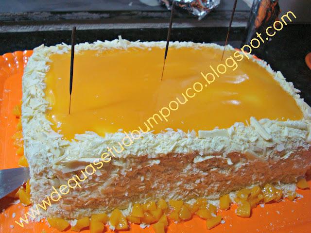de bolo de chocolate para forma quadrada grande