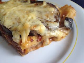 Lasagne s hovädzím mäsom a baklažánom
