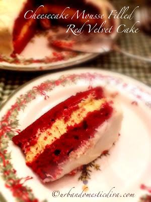 RECIPE: Cheesecake Mousse Filled Red Velvet Cake
