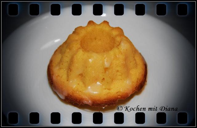 Mini Zitronen Gugelhupf/ Mini lemon ring cake