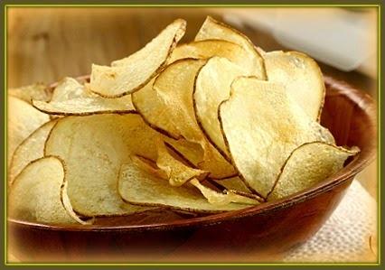 Batata chips caseira