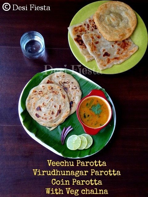 Veechu parotta, Virudhunagar Parotta with Vegetable Chalna