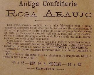 Antiga Confeitaria Portuguesa:Rosa Araujo.
