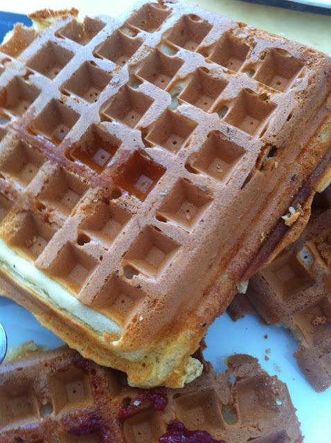de waffle caseiro crocante