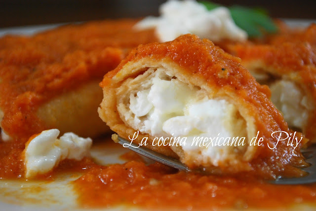 Enchiladas ligth de queso cottage al chipotle