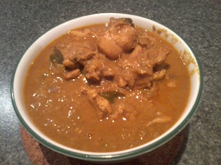Chicken curry with cocunut milk