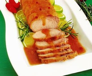 lombo de porco assado no forno no vinho branco