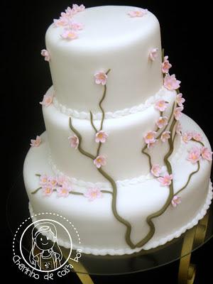 Bolo de casamento Cherry Blossom
