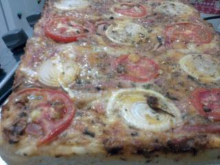 massa de pizza de sardinha com fermento biologico