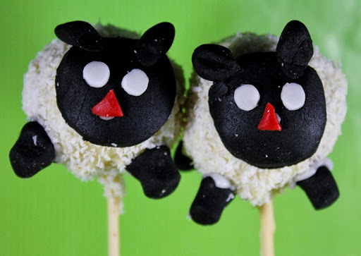 Cake pops moutons