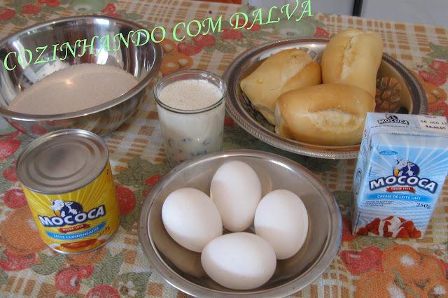 Pudim de pão com leite condensado Mococa