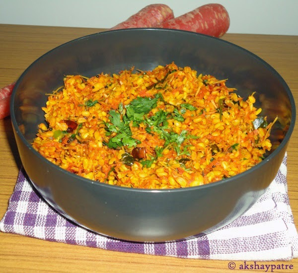 Gajar moong dal stir fry | Carrot split green gram stir fry
