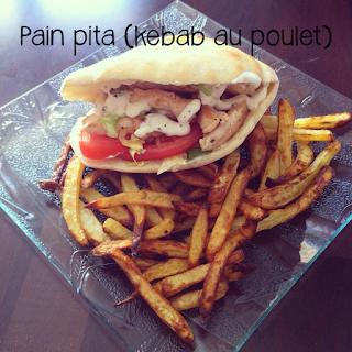 Pain pita (kebab au poulet)