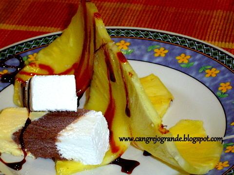 frutillas bañadas caramelo