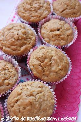 Muffins de Maçã Sem Lactose e Sem Ovos