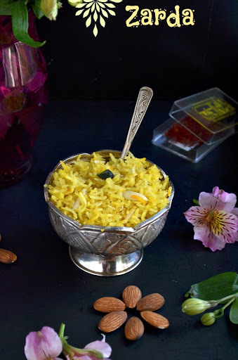 sweet indian yellow rice