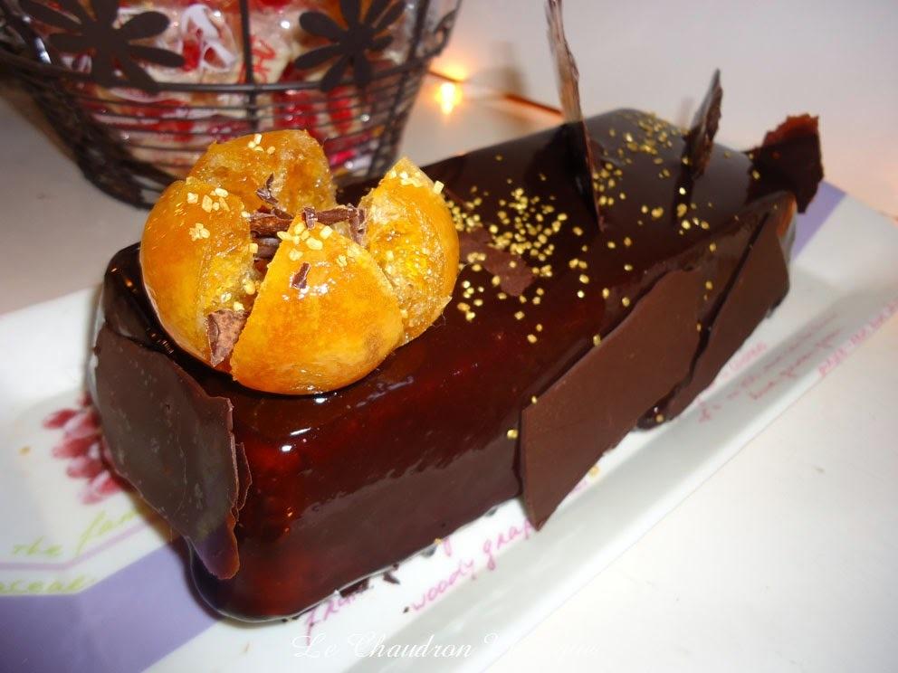 Bavarois à la clémentine sur Parfait au chocolat, ou l'inverse....
