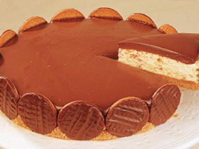 de recheio de chocolate para torta de bolacha maria