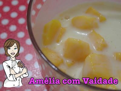 Manga com Kefir (Iogurte) de Chocolate Branco
