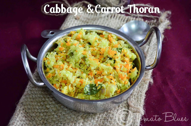 Cabbage&Carrot Thoran Recipe| South Indian Lunch Recipes