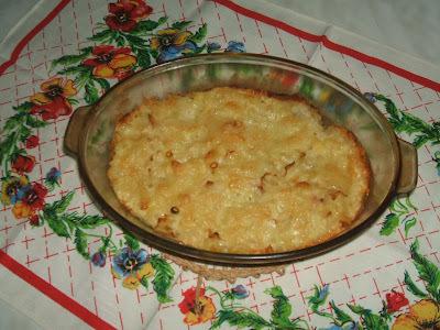 Csőben sült tojásos, juhtúrós tészta