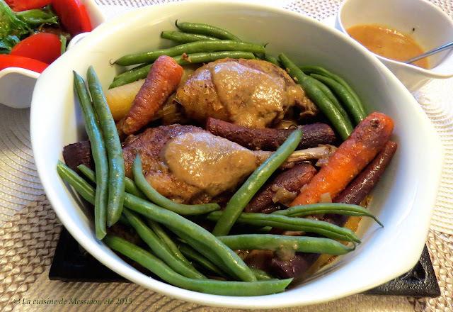 Cuisses de canard braisées aux légumes d'automne