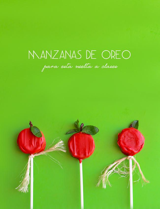 Oreo Cookie Pops de Manzana