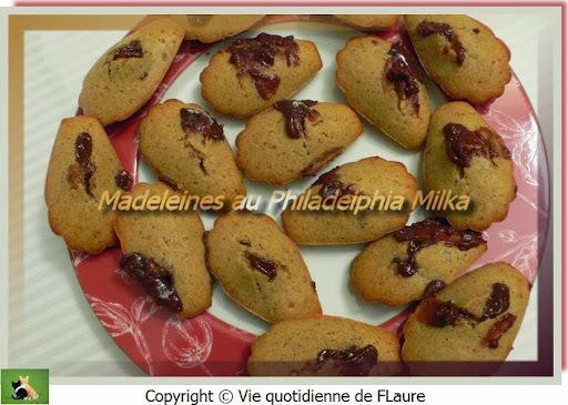Madeleines au Philadelphia Milka
