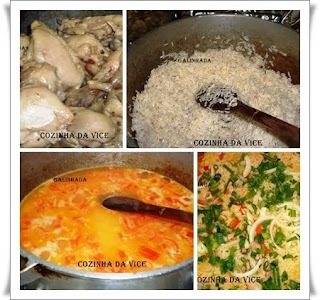 para fazer galinhada para muita gente