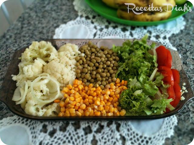 salada simples e rápida