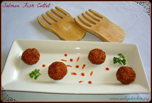 Fish Cutlet Recipe / Salmon Fish Cutlets Recipe / Fish Kabab (Kebab) Recipe / Indian Fish Cakes / Fried Fish Patties Recipe