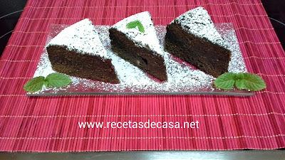 Coca de chocolate en microondas