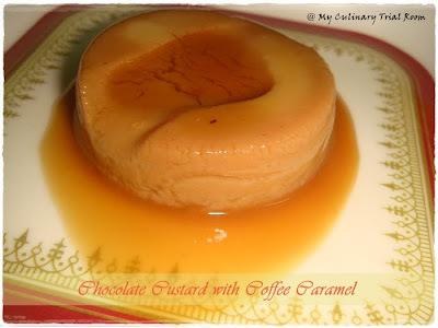 Chocolate Custard with Coffee Caramel