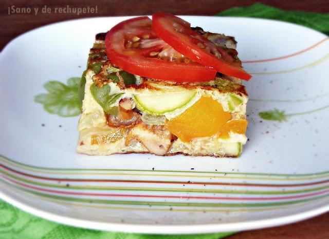 Frittata de rebozuelos y verduras