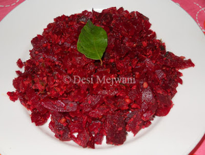 beetroot grated curry