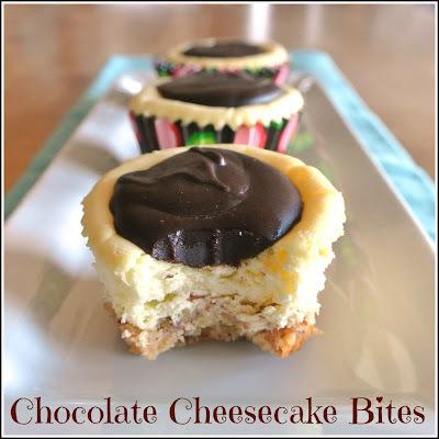 Chocolate Cheesecake Bites #SundaySupper