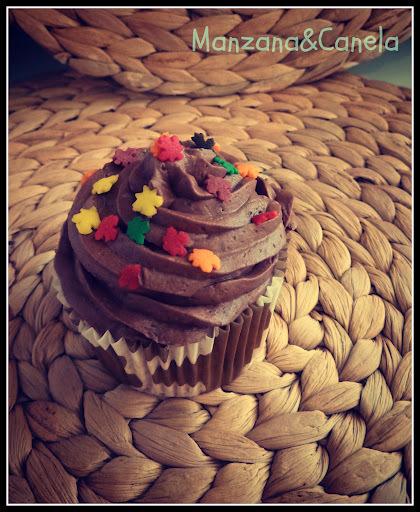 Cupcakes otoñales: de plátano y chocolate!