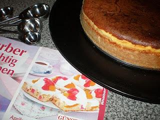 Cheesecake - Käsekuchen de manzana y duraznos