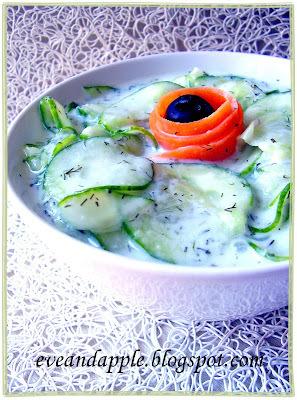 Joghurtos uborkasaláta