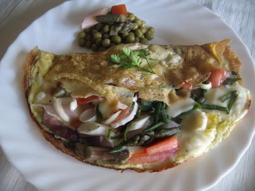 Omelette de Espárragos.