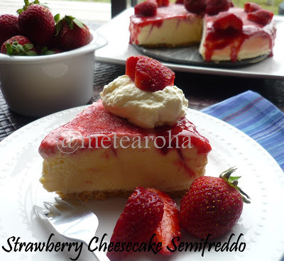 strawberry cheesecake semifreddo