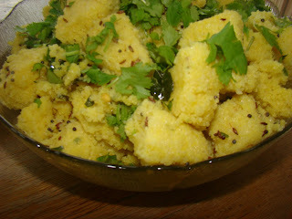 Dhokla the way my mom used to make