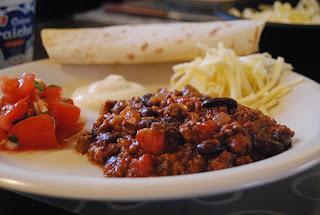 Chili con carne (y cerveza) + hjemmelaget tomatsalsa