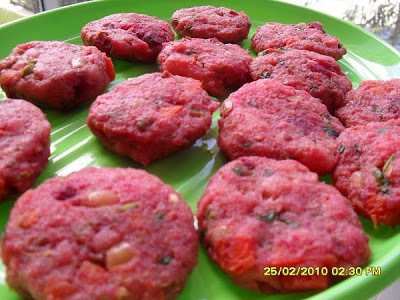 Beetroot and Peanut Vegetable Cutlet